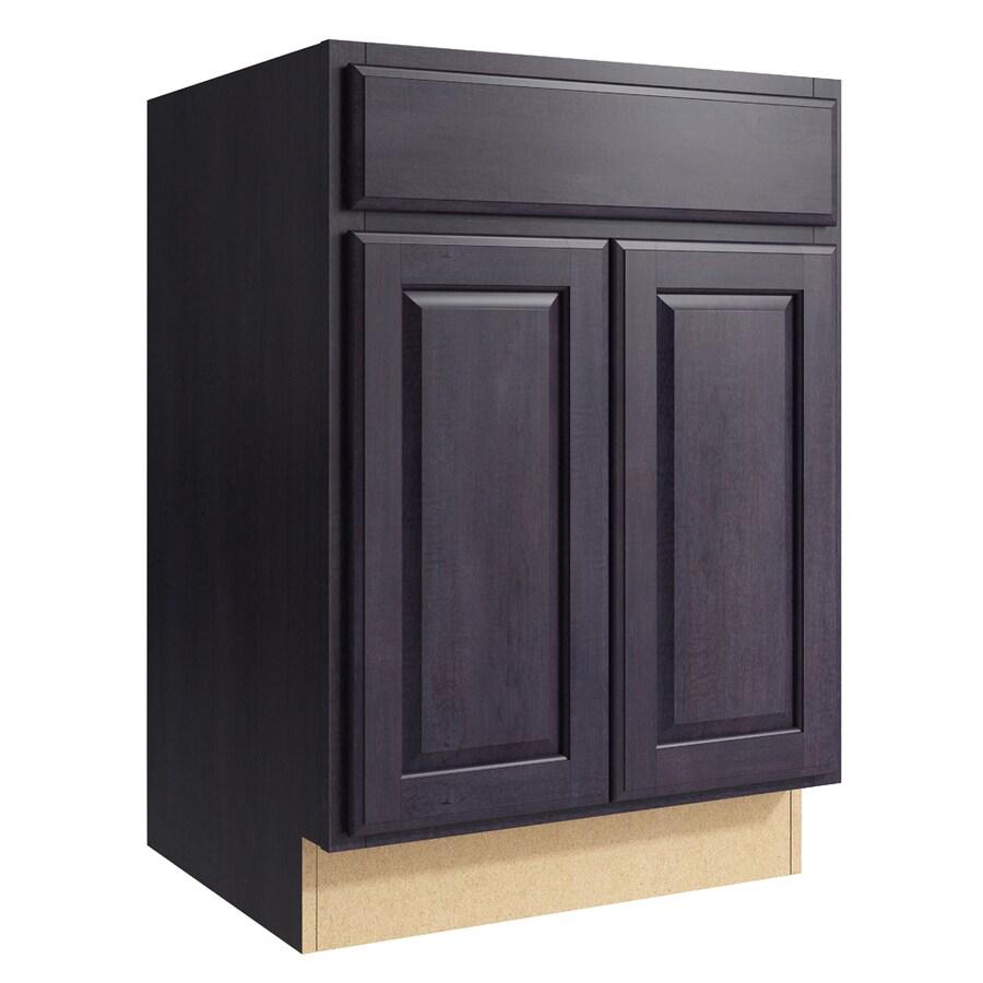 KraftMaid Momentum Dusk Settler 2-Door Base Cabinet (Common: 24-in x 21-in x 34.5-in; Actual: 24-in x 21-in x 34.5-in)