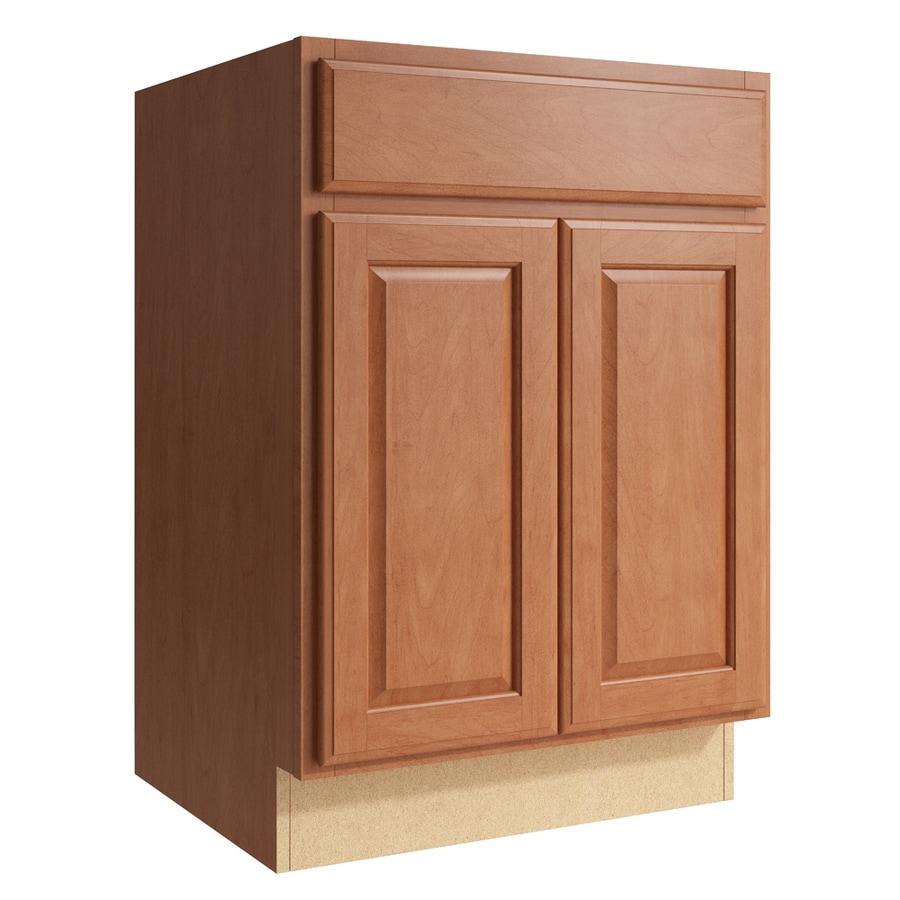 KraftMaid Momentum Hazelnut Settler 2-Door Base Cabinet (Common: 24-in x 21-in x 34.5-in; Actual: 24-in x 21-in x 34.5-in)