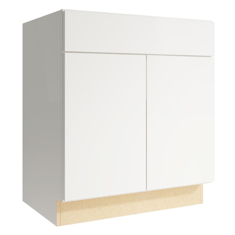 KraftMaid Momentum Cotton Frontier 2-Door Base Cabinet (Common: 30-in x 21-in x 34.5-in; Actual: 30-in x 21-in x 34.5-in)