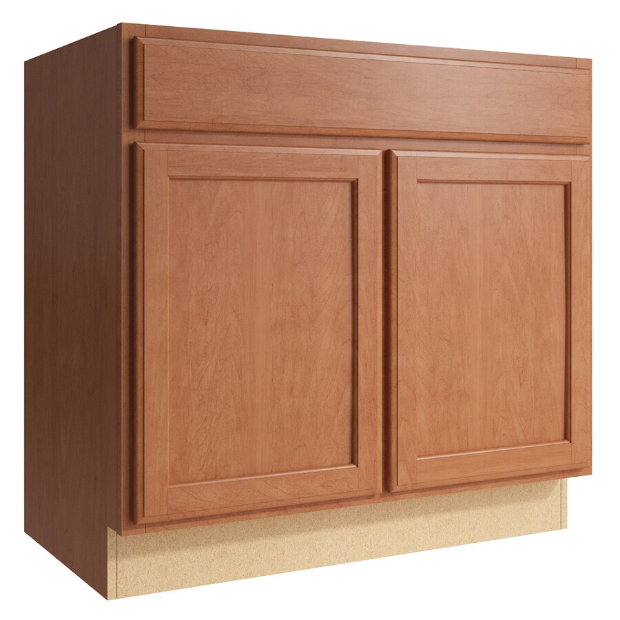 KraftMaid Momentum Hazelnut Kingston 2-Door Base Cabinet (Common: 36-in x 21-in x 34.5-in; Actual: 36-in x 21-in x 34.5-in)