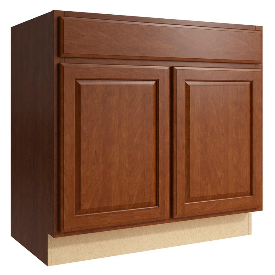 Shop Kraftmaid Momentum Sable Settler 2 Door Base Cabinet