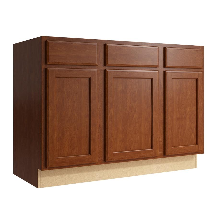 KraftMaid Momentum Sable Kingston 3-Door 2-Drawer Sink Base (Common: 48-in x 21-in x 34.5-in; Actual: 48-in x 21-in x 34.5-in)