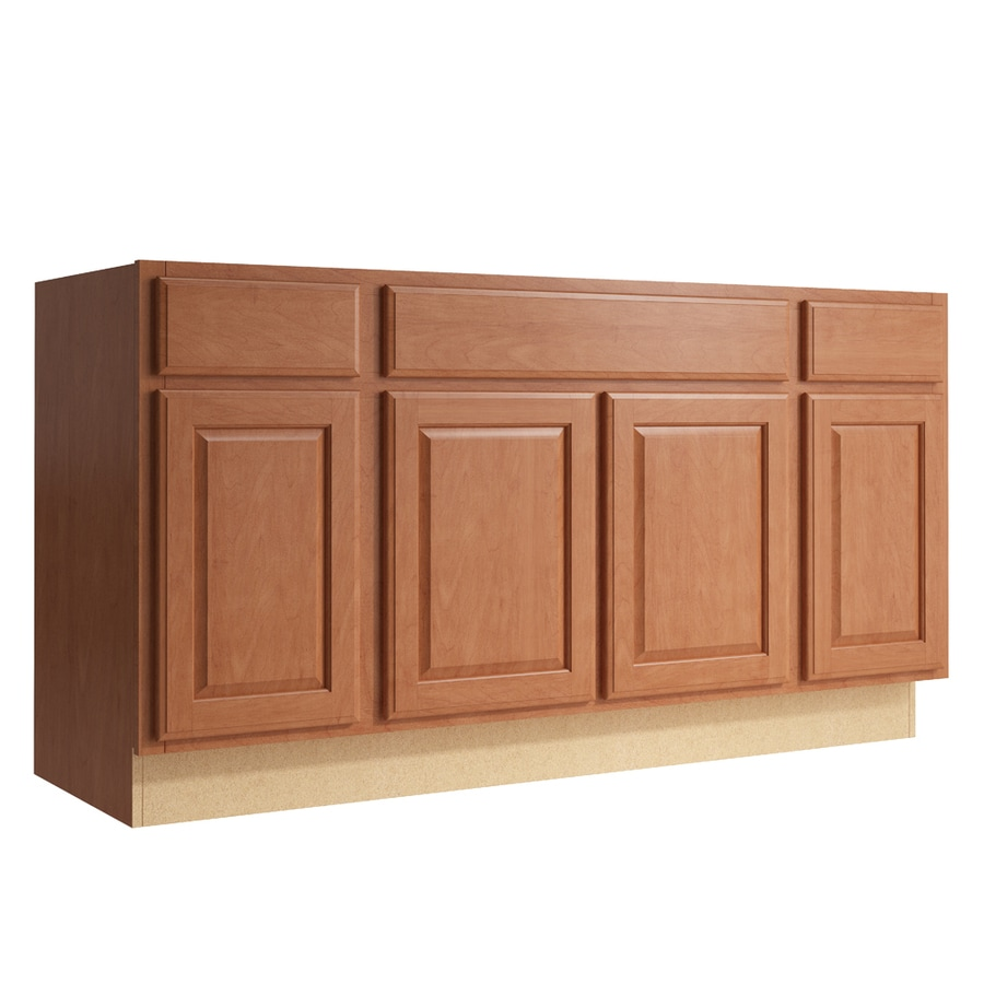KraftMaid Momentum Hazelnut Settler 4-Door 2-Drawer Sink Base (Common: 60-in x 21-in x 31.5-in; Actual: 60-in x 21-in x 31.5-in)