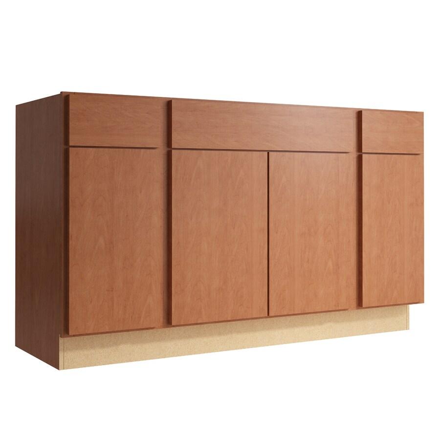 KraftMaid Momentum Hazelnut Frontier 4-Door 2-Drawer Sink Base (Common: 60-in x 21-in x 34.5-in; Actual: 60-in x 21-in x 34.5-in)