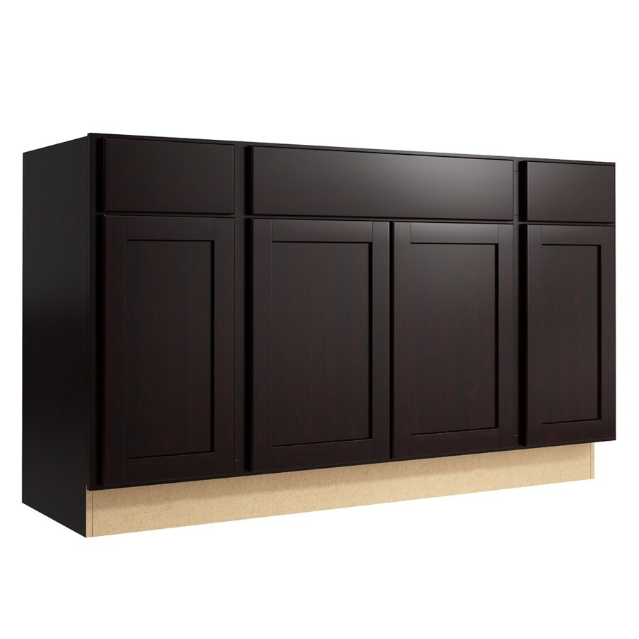 KraftMaid Momentum Kona Paxton 4-Door 2-Drawer Sink Base (Common: 60-in x 21-in x 34.5-in; Actual: 60-in x 21-in x 34.5-in)