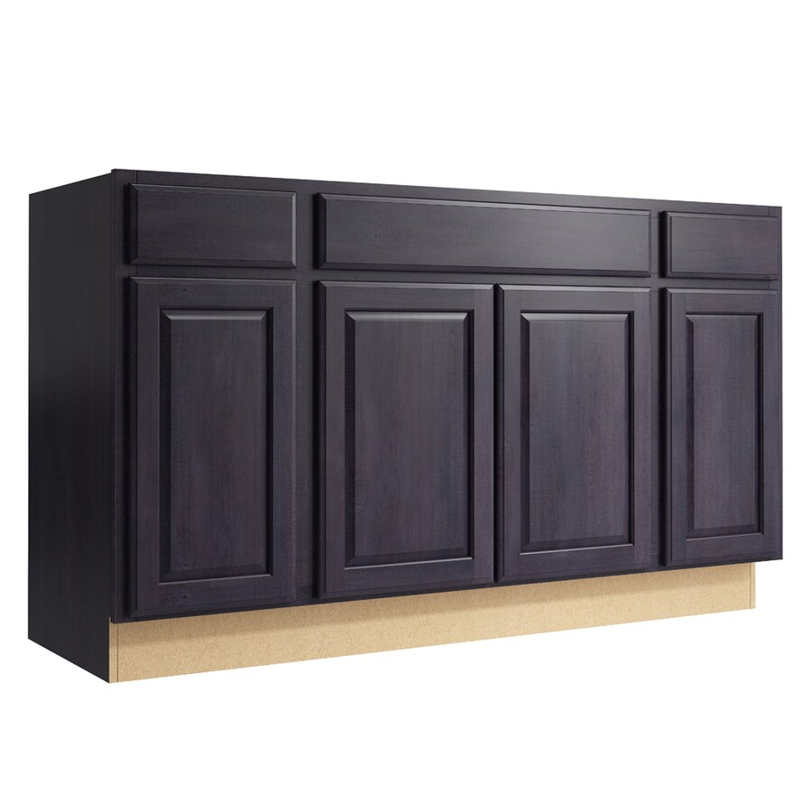KraftMaid Momentum Dusk Settler 4-Door 2-Drawer Sink Base (Common: 60-in x 21-in x 34.5-in; Actual: 60-in x 21-in x 34.5-in)