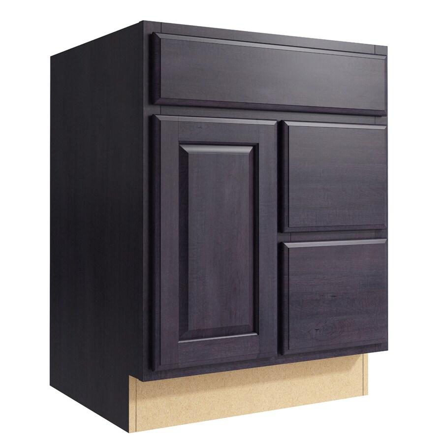 KraftMaid Momentum Dusk Settler 1-Door 2-Drawer Right Base Cabinet (Common: 24-in x 21-in x 31.5-in; Actual: 24-in x 21-in x 31.5-in)