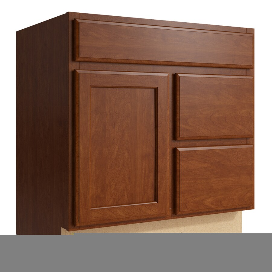 KraftMaid Momentum Sable Kingston 1-Door 2-Drawer Right Base Cabinet (Common: 30-in x 21-in x 31.5-in; Actual: 30-in x 21-in x 31.5-in)