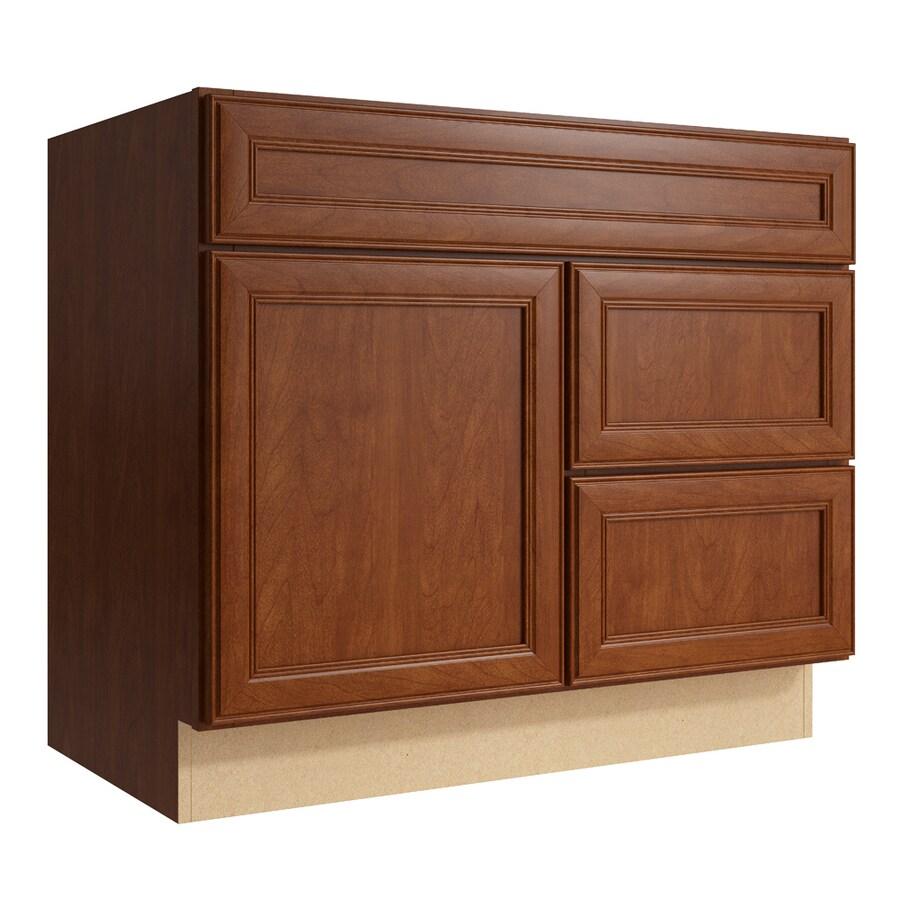 KraftMaid Momentum Sable Bellamy 1-Door 2-Drawer Right Base Cabinet (Common: 36-in x 21-in x 31.5-in; Actual: 36-in x 21-in x 31.5-in)
