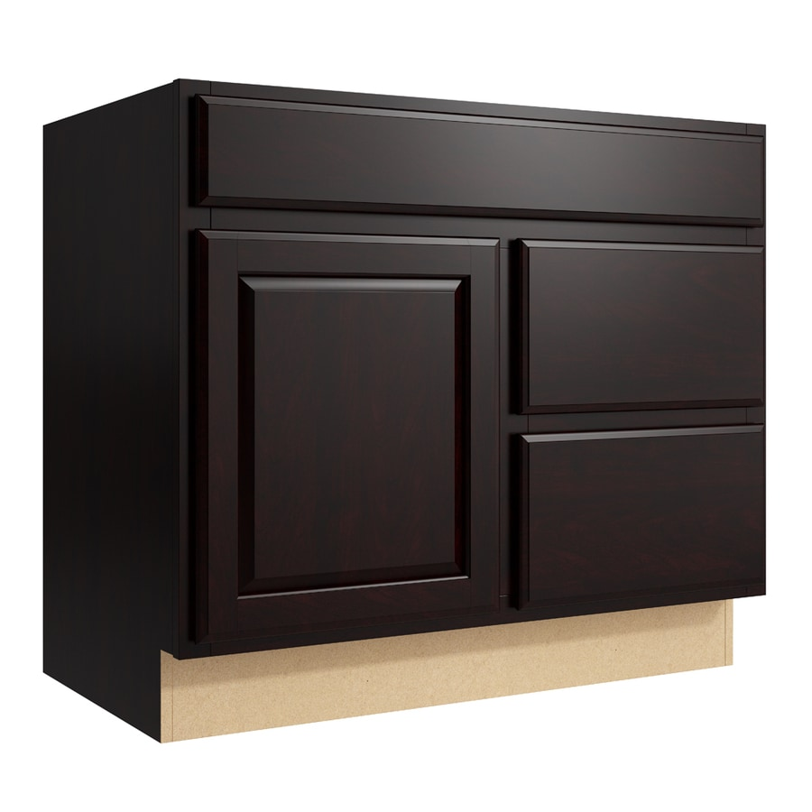 KraftMaid Momentum Kona Settler 1-Door 2-Drawer Right Base Cabinet (Common: 36-in x 21-in x 31.5-in; Actual: 36-in x 21-in x 31.5-in)