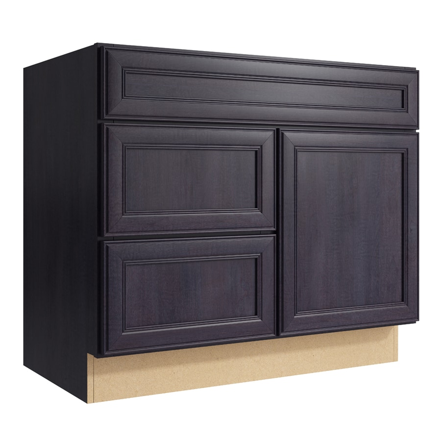 KraftMaid Momentum Dusk Bellamy 1-Door 2-Drawer Left Base Cabinet (Common: 36-in x 21-in x 31.5-in; Actual: 36-in x 21-in x 31.5-in)