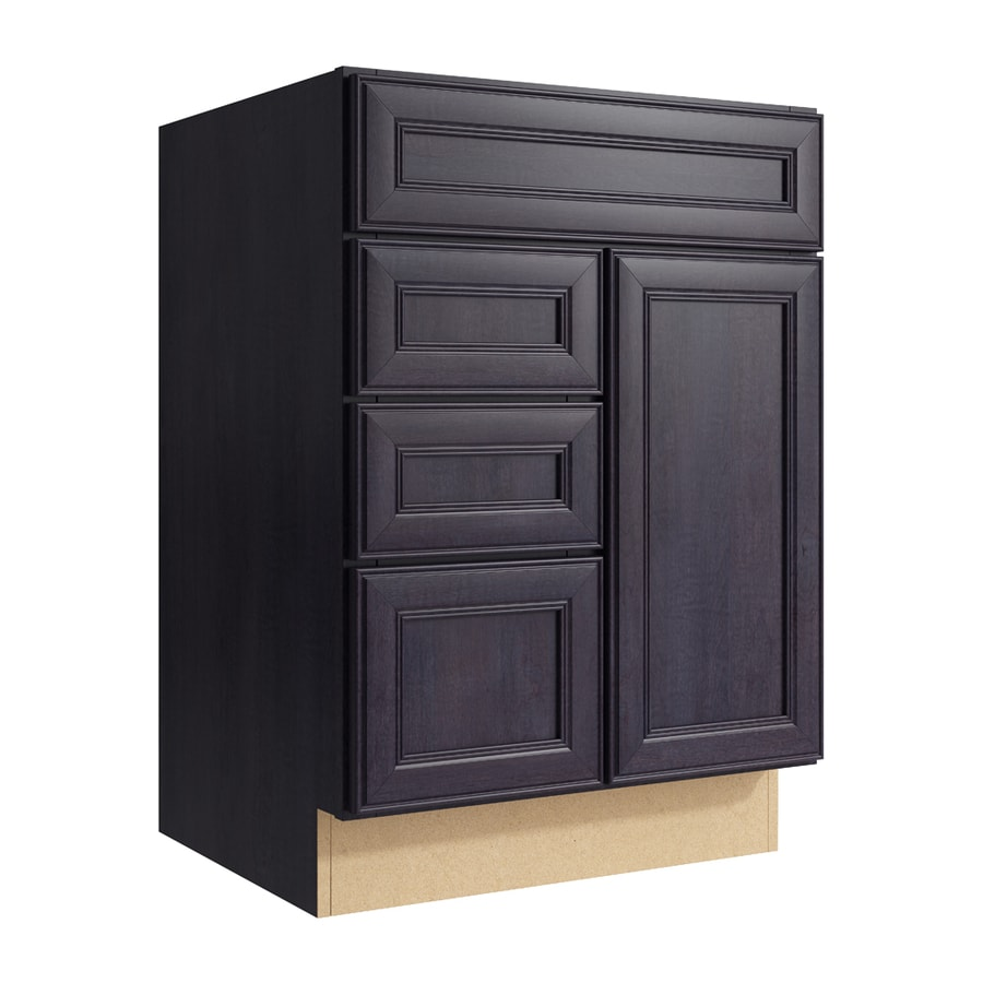 KraftMaid Momentum Dusk Bellamy 1-Door 3-Drawer Left Base Cabinet (Common: 24-in x 21-in x 34.5-in; Actual: 24-in x 21-in x 34.5-in)