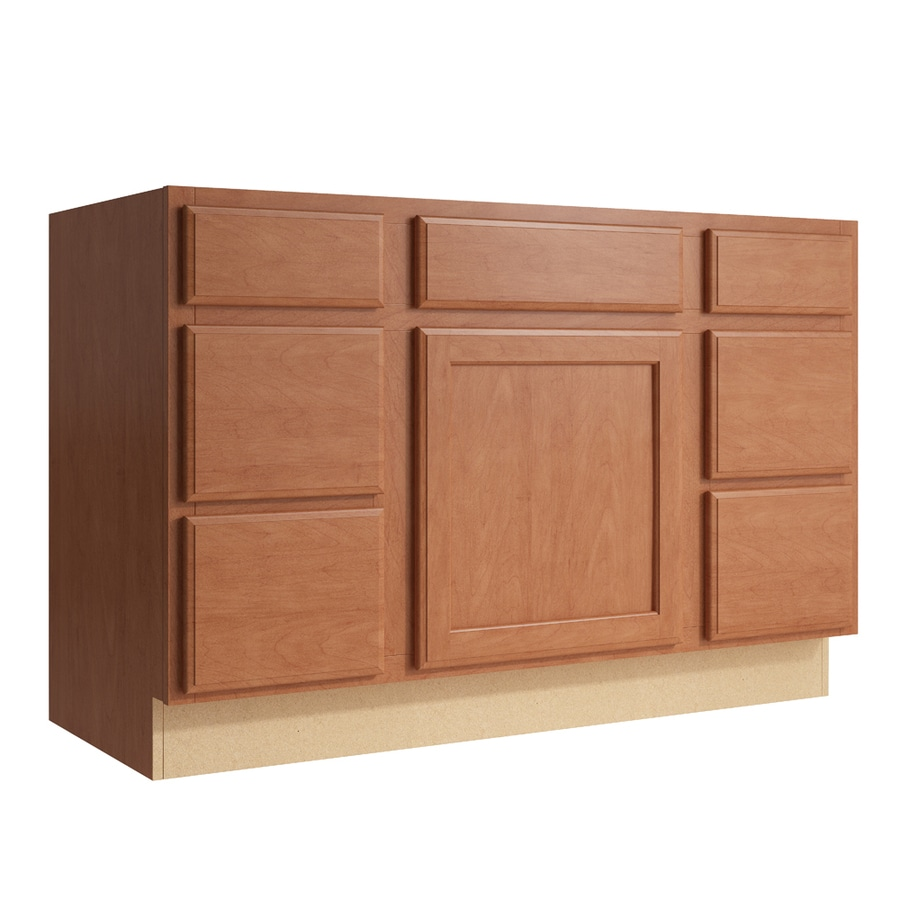 KraftMaid Momentum Hazelnut Kingston 1-Door 6-Drawer Base Cabinet (Common: 48-in x 21-in x 31.5-in; Actual: 48-in x 21-in x 31.5-in)