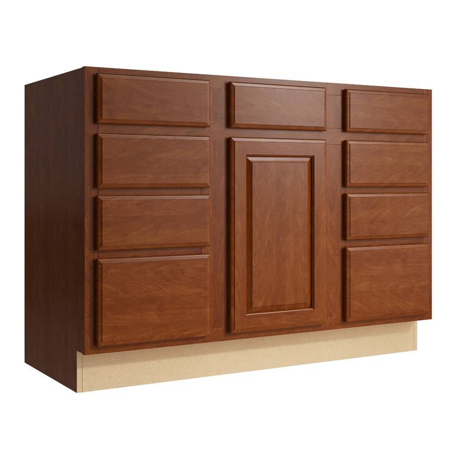 Shop kraftmaid momentum sable settler 1 door 8 drawer base for 1 door cabinet