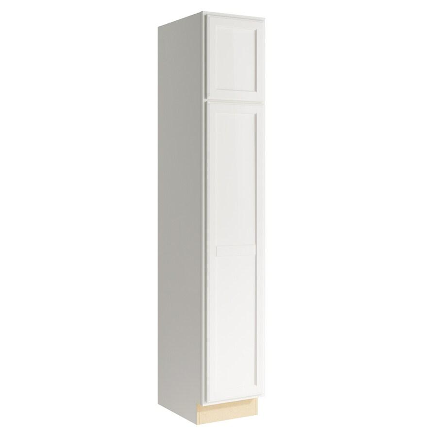 KraftMaid Momentum Cotton Kingston 2-Door Left-Hinged Linen Cabinet (Common 15-in x 21-in x 84-in; Actual 15-in x 21-in x 84-in)