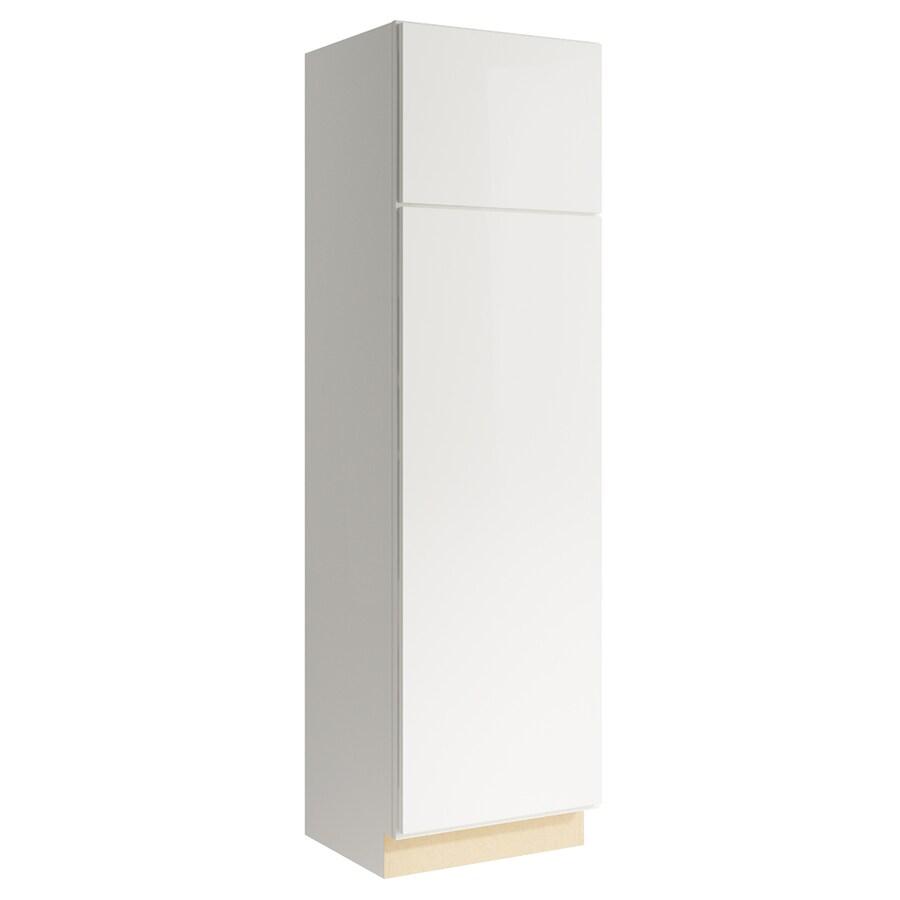 KraftMaid Momentum Cotton Frontier 2-Door Left-Hinged Linen Cabinet (Common 24-in x 21-in x 84-in; Actual 24-in x 21-in x 84-in)