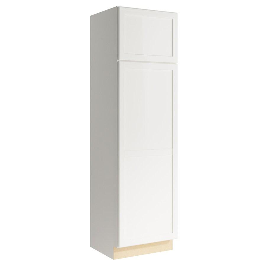 KraftMaid Momentum Cotton Paxton 2-Door Left-Hinged Linen Cabinet (Common 24-in x 21-in x 84-in; Actual 24-in x 21-in x 84-in)