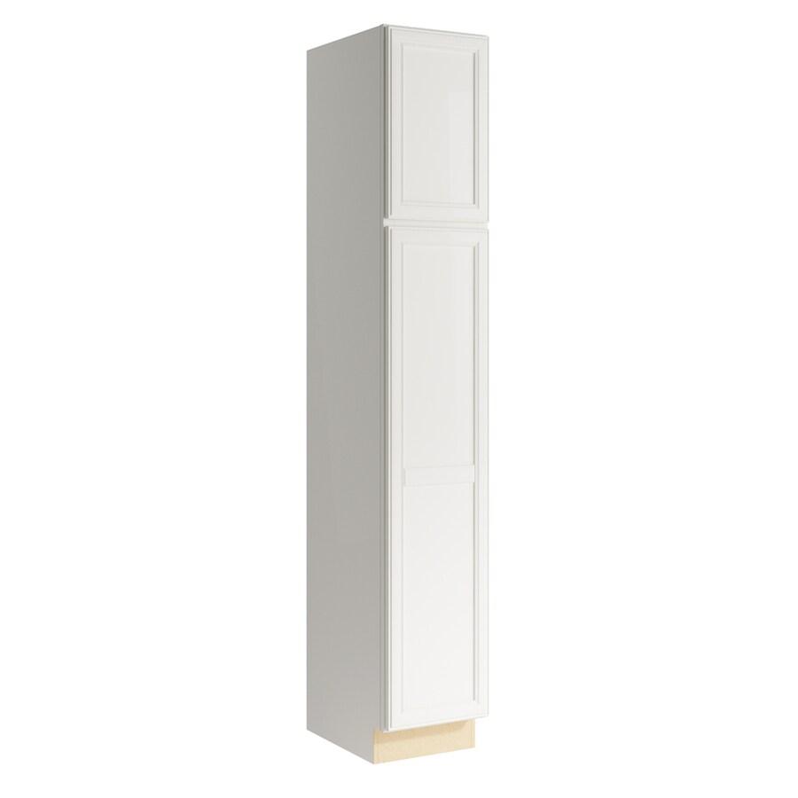 KraftMaid Momentum Cotton Bellamy 2-Door Right-Hinged Linen Cabinet (Common 15-in x 21-in x 90-in; Actual 15-in x 21-in x 90-in)