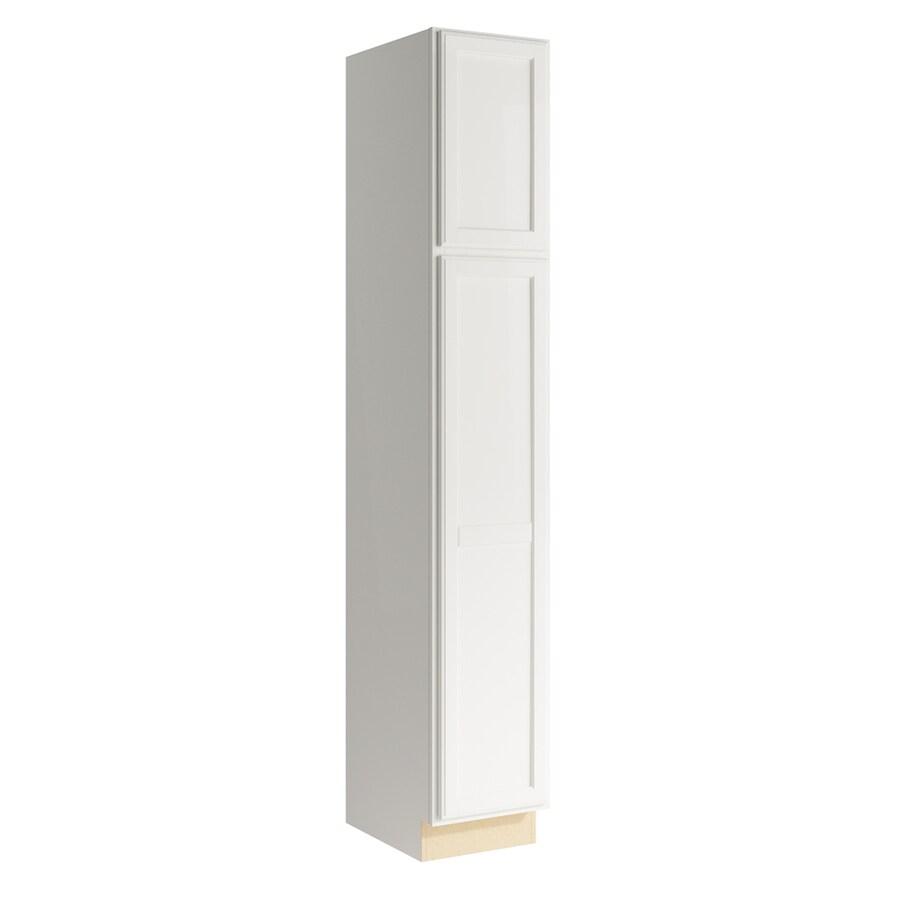 KraftMaid Momentum Cotton Kingston 2-Door Right-Hinged Linen Cabinet (Common 15-in x 21-in x 90-in; Actual 15-in x 21-in x 90-in)