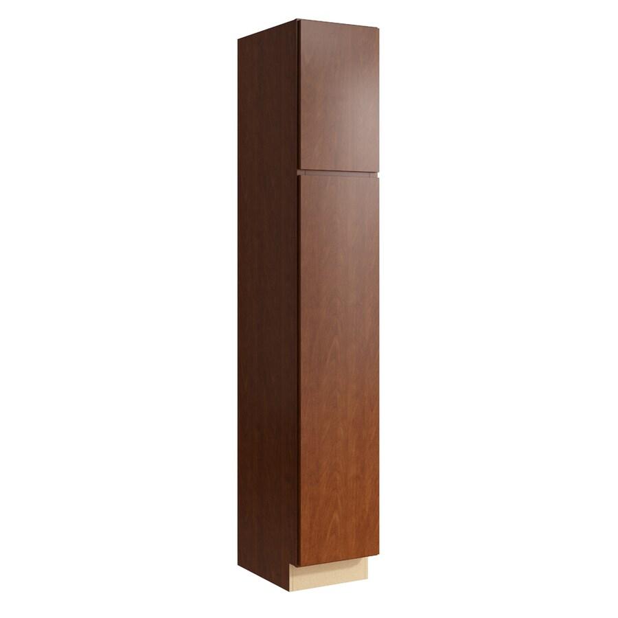 KraftMaid Momentum Sable Frontier 2-Door Left-Hinged Linen Cabinet (Common 15-in x 21-in x 90-in; Actual 15-in x 21-in x 90-in)