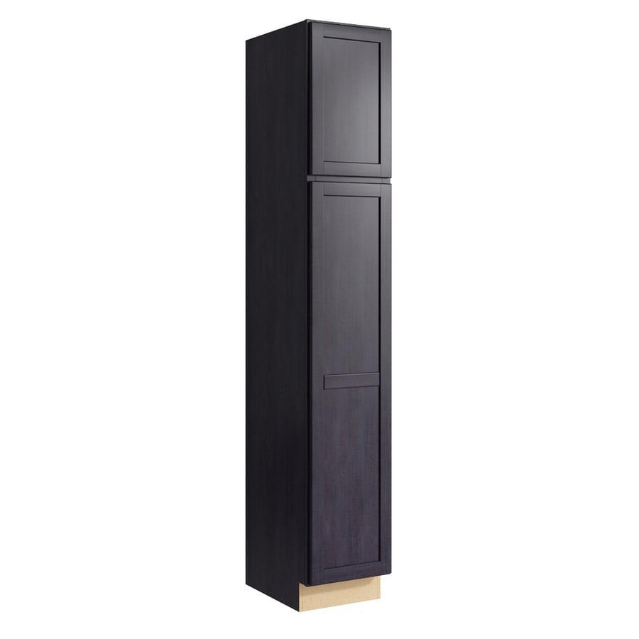 KraftMaid Momentum Dusk Paxton 2-Door Left-Hinged Linen Cabinet (Common 15-in x 21-in x 90-in; Actual 15-in x 21-in x 90-in)