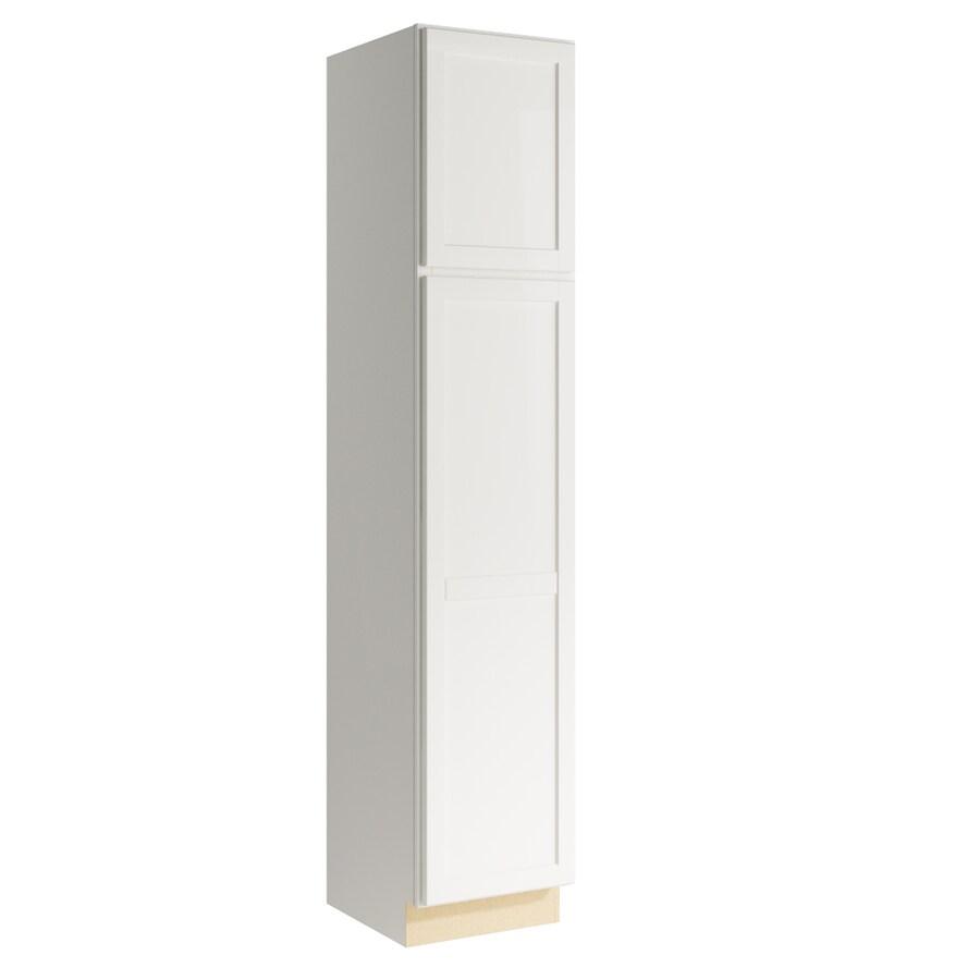 KraftMaid Momentum Cotton Paxton 2-Door Left-Hinged Linen Cabinet (Common 18-in x 21-in x 90-in; Actual 18-in x 21-in x 90-in)