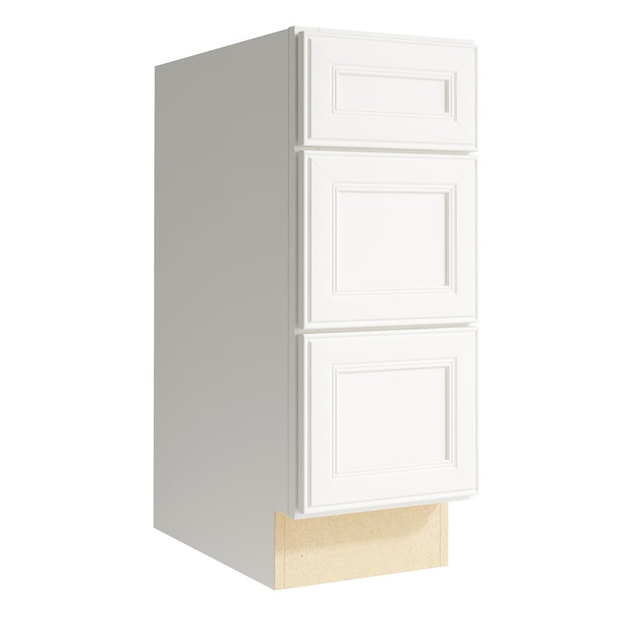 KraftMaid Momentum Cotton Bellamy 3-Drawer Bank (Common: 12-in x 21-in x 31.5-in; Actual: 12-in x 21-in x 31.5-in)