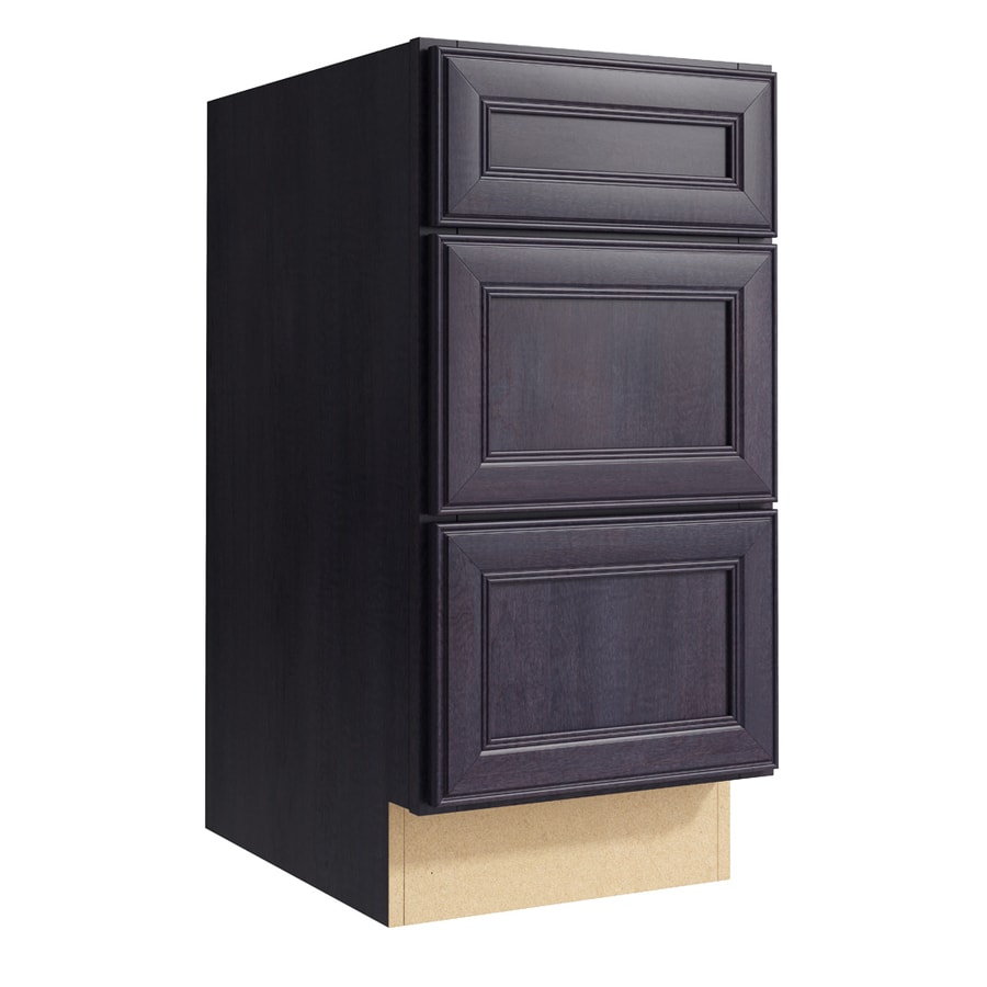 KraftMaid Momentum Dusk Bellamy 3-Drawer Bank (Common: 15-in x 21-in x 31.5-in; Actual: 15-in x 21-in x 31.5-in)