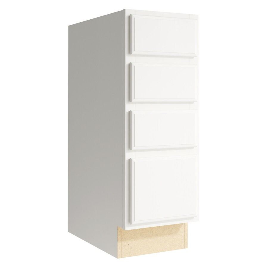 KraftMaid Momentum Cotton Kingston 4-Drawer Bank (Common: 12-in x 21-in x 34.5-in; Actual: 12-in x 21-in x 34.5-in)
