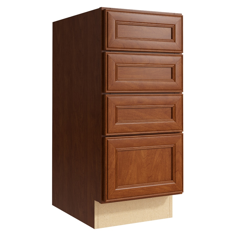 KraftMaid Momentum Sable Bellamy 4-Drawer Bank (Common: 15-in x 21-in x 34.5-in; Actual: 15-in x 21-in x 34.5-in)