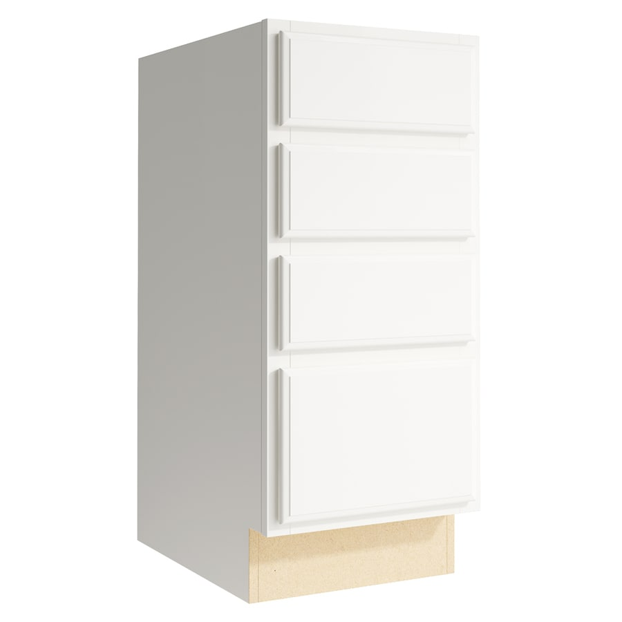 KraftMaid Momentum Cotton Settler 4-Drawer Bank (Common: 15-in x 21-in x 34.5-in; Actual: 15-in x 21-in x 34.5-in)