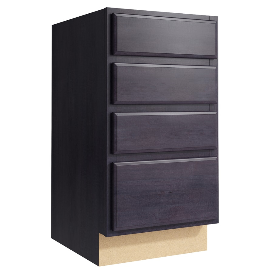 KraftMaid Momentum Dusk Settler 4-Drawer Bank (Common: 18-in x 21-in x 34.5-in; Actual: 18-in x 21-in x 34.5-in)