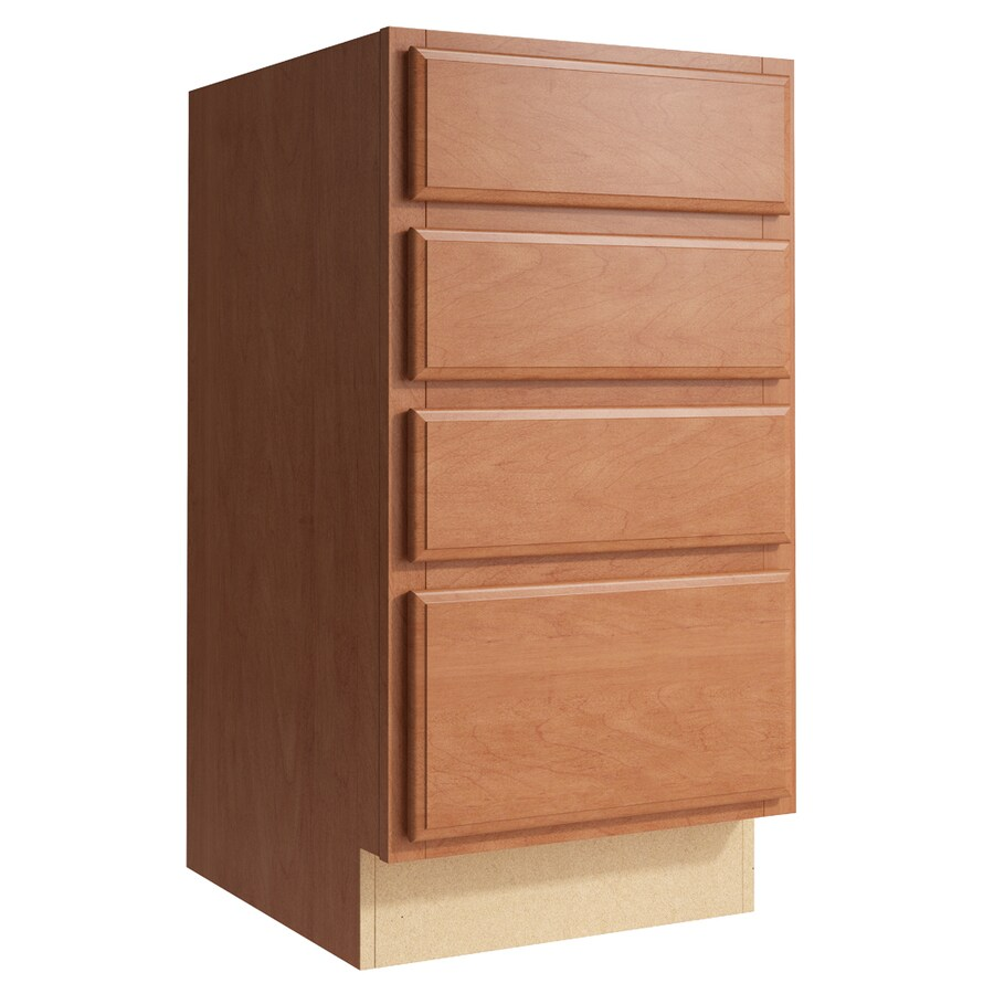KraftMaid Momentum Hazelnut Settler 4-Drawer Bank (Common: 18-in x 21-in x 34.5-in; Actual: 18-in x 21-in x 34.5-in)