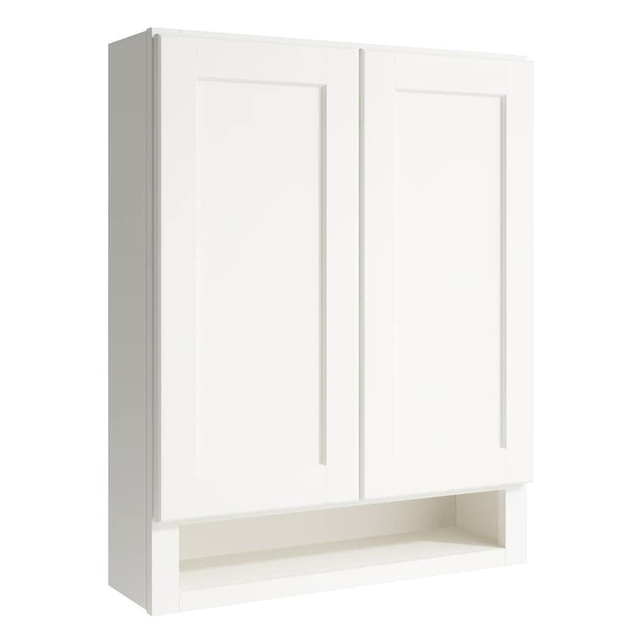KraftMaid Momentum Cotton Paxton Wall Hutch (Common: 24-in x 7-in x 30-in; Actual: 24-in x 7-in x 30-in)