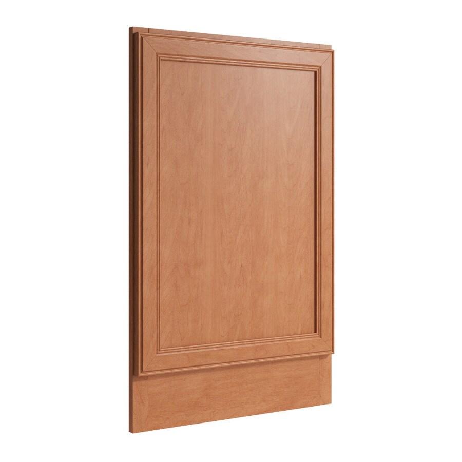 KraftMaid Momentum Hazelnut Standard Bellamy Decorative End Panel (Common: 21-in x 0.937 x 34.5-in; Actual: 20.25-in x 0.937 x 34.5-in)