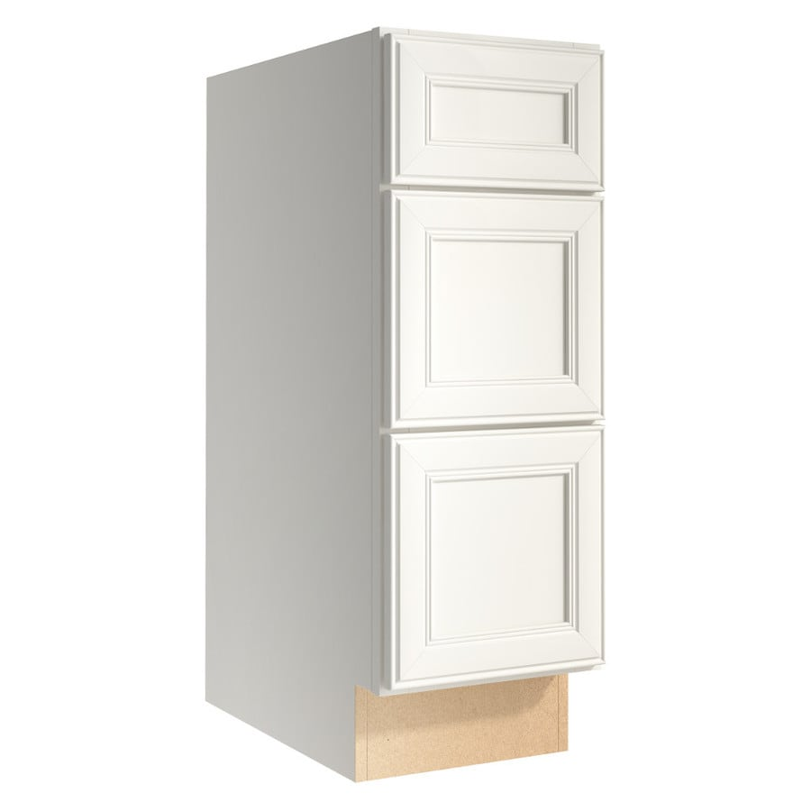 KraftMaid Momentum Cotton (Cabinetry) Bellamy 3-Drawer Bank (Common 12-in x 21-in x 34.5-in; Actual 12-in x 21-in x 34.5-in)