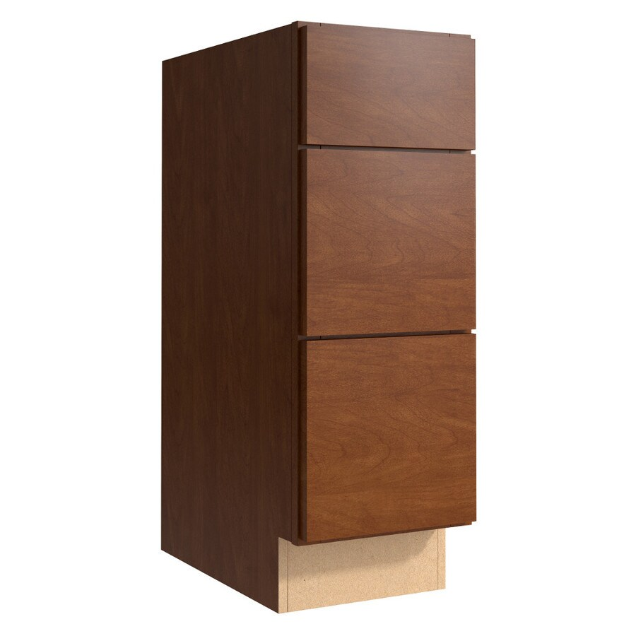 KraftMaid Momentum Sable (Cabinetry) Frontier 3-Drawer Bank (Common 12-in x 21-in x 34.5-in; Actual 12-in x 21-in x 34.5-in)