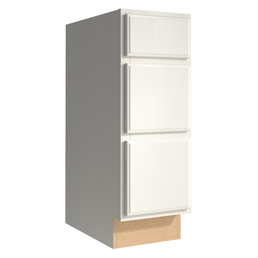 KraftMaid Momentum Cotton (Cabinetry) Settler 3-Drawer Bank (Common 12-in x 21-in x 34.5-in; Actual 12-in x 21-in x 34.5-in)