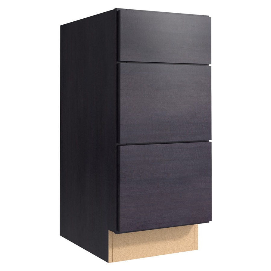 KraftMaid Momentum Dusk (Cabinetry) Frontier 3-Drawer Bank (Common 15-in x 21-in x 34.5-in; Actual 15-in x 21-in x 34.5-in)