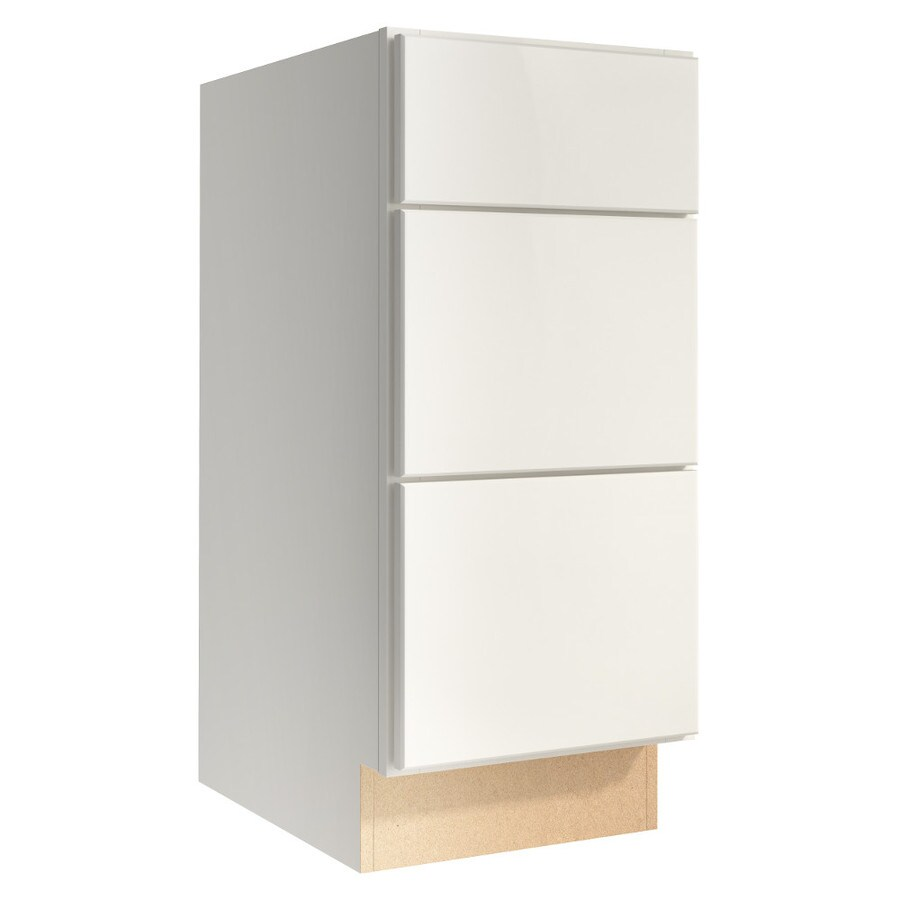KraftMaid Momentum Cotton Paxton 3-Drawer Bank (Common 15-in x 21-in x 34.5-in; Actual 15-in x 21-in x 34.5-in)