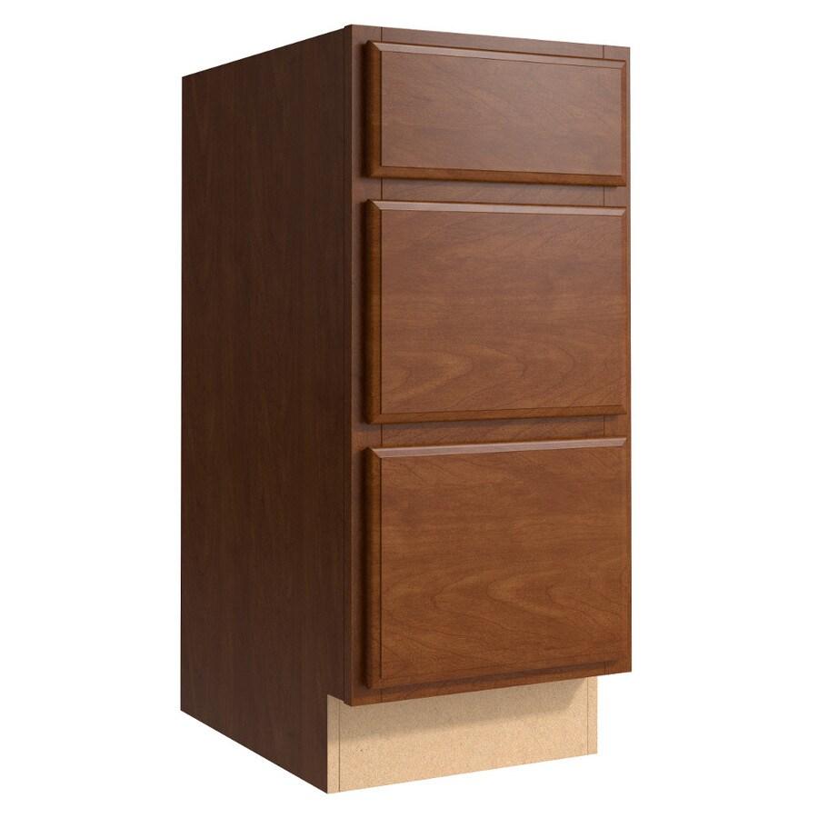 KraftMaid Momentum Sable (Cabinetry) Settler 3-Drawer Bank (Common 15-in x 21-in x 34.5-in; Actual 15-in x 21-in x 34.5-in)