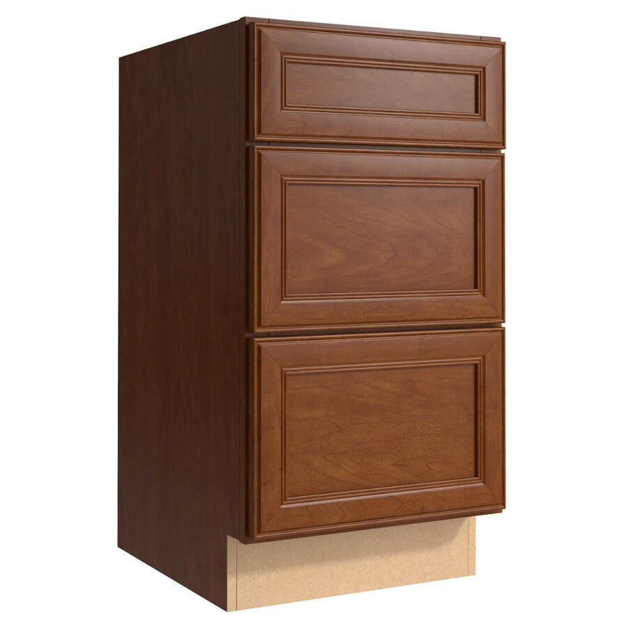 KraftMaid Momentum Sable (Cabinetry) Bellamy 3-Drawer Bank (Common 18-in x 21-in x 34.5-in; Actual 18-in x 21-in x 34.5-in)