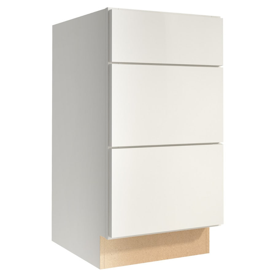 KraftMaid Momentum Cotton (Cabinetry) Frontier 3-Drawer Bank (Common 18-in x 21-in x 34.5-in; Actual 18-in x 21-in x 34.5-in)