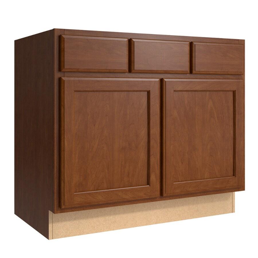 KraftMaid Momentum Sable Kingston 2-Door 2-Drawer Base Cabinet (Common 36-in x 21-in x 31.5-in; Actual 36-in x 21-in x 31.5-in)