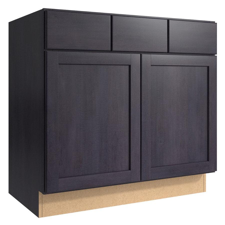 KraftMaid Momentum Dusk Paxton 2-Door 2-Drawer Base Cabinet (Common 36-in x 21-in x 34.5-in; Actual 36-in x 21-in x 34.5-in)