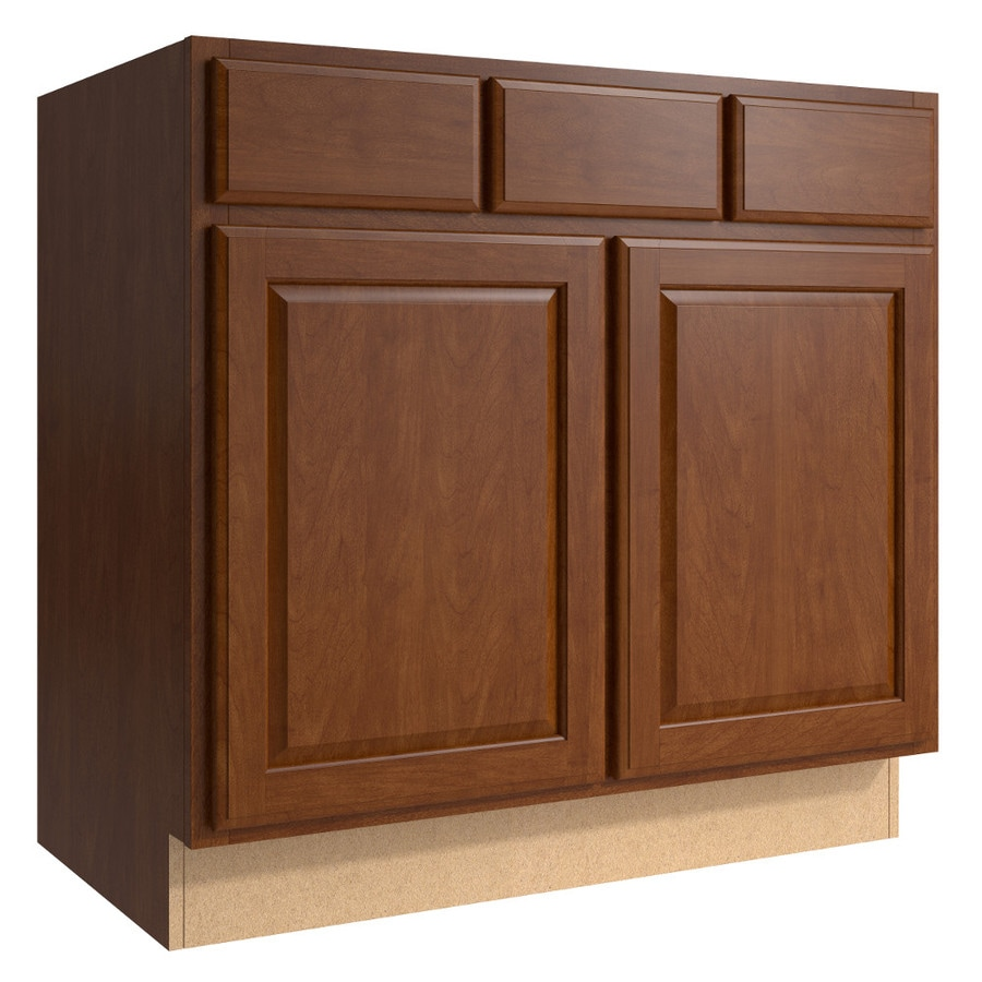 KraftMaid Momentum Sable (Cabinetry) Settler 2-Door 2-Drawer Base Cabinet (Common 36-in x 21-in x 34.5-in; Actual 36-in x 21-in x 34.5-in)