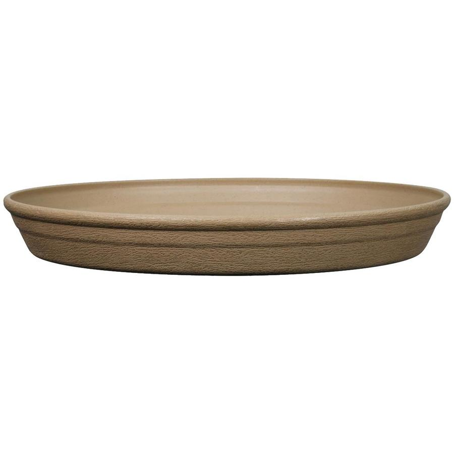 Garden Treasures 17.24-in Brown/Tan Plastic Plant Saucer