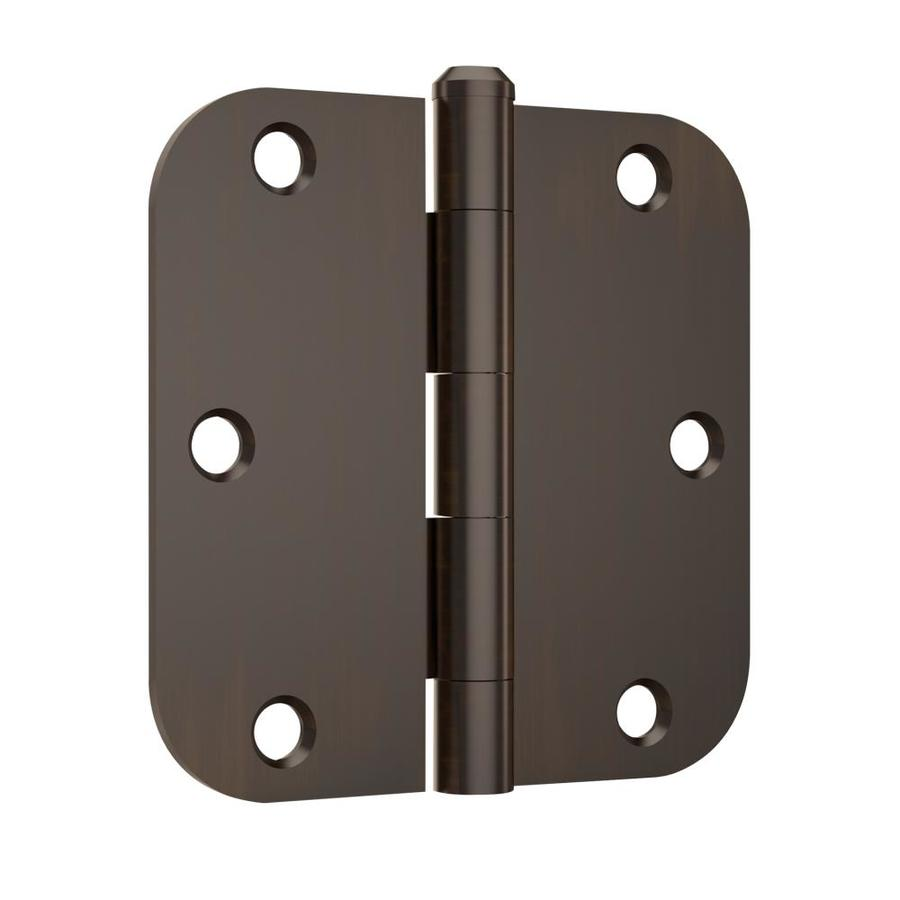Gatehouse 3-Pack 3.5-in H Oil-Rubbed Bronze 5/8-in Radius Interior Mortise Door Hinge