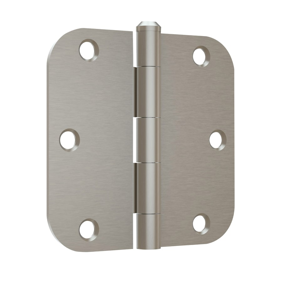 Gatehouse 3-Pack 3.5-in H Satin Nickel 5/8-in Radius Interior Mortise Door Hinge
