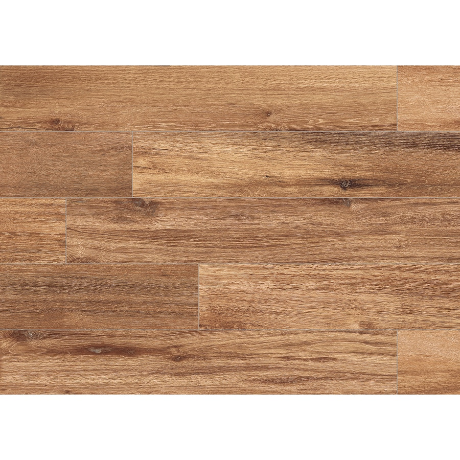 Natural Timber Gunstock Porcelain Floor and Wall Tile (Common: 6-in x 36-in; Actual: 5.79-in x 35.96-in) Product Photo